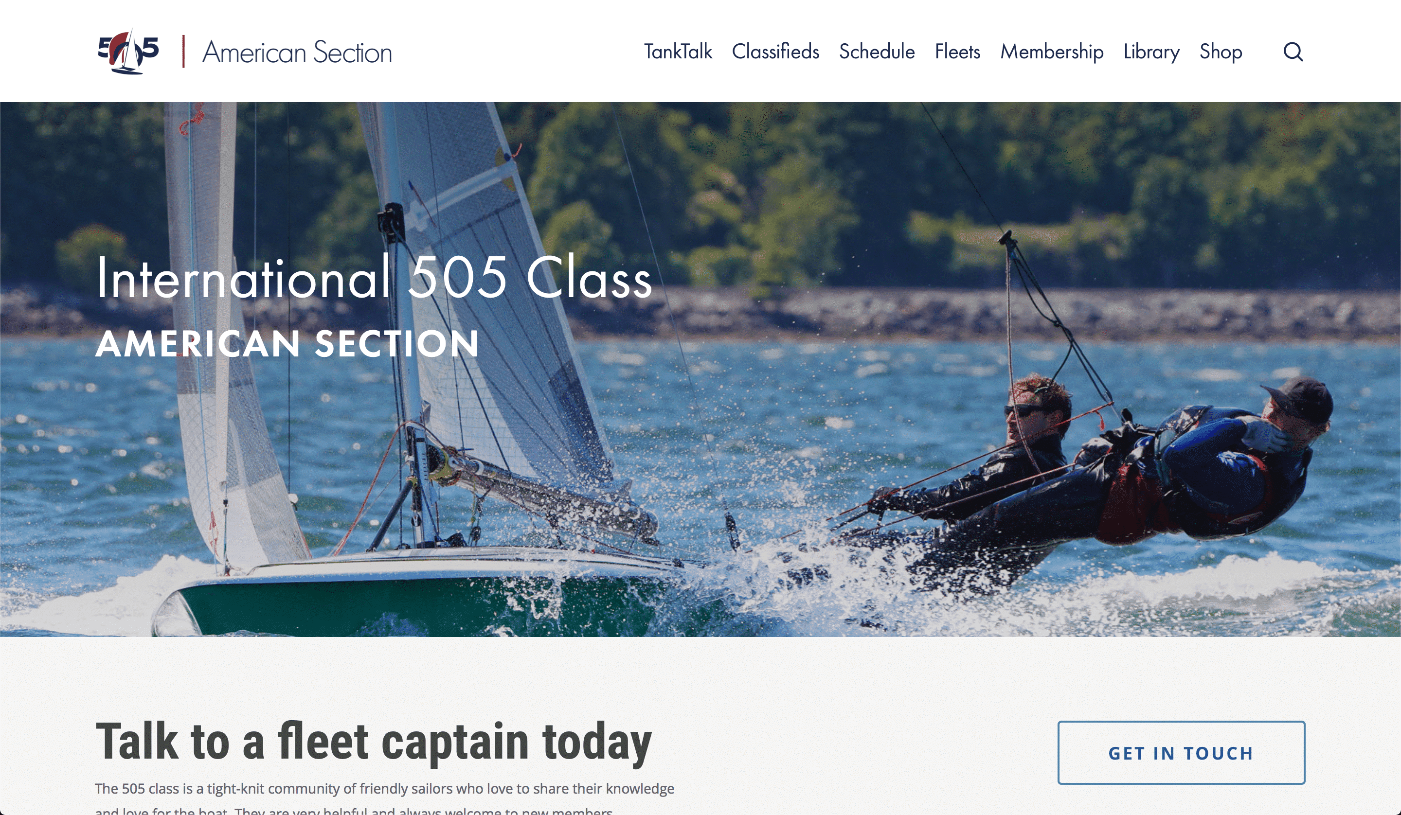 New Website Officially Released! - 505 Class - American Section
